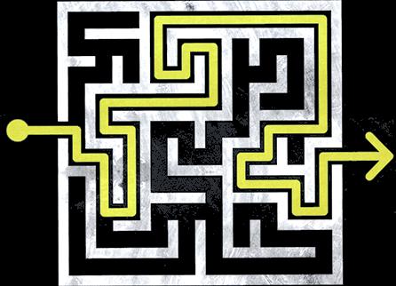 Navigating through a maze